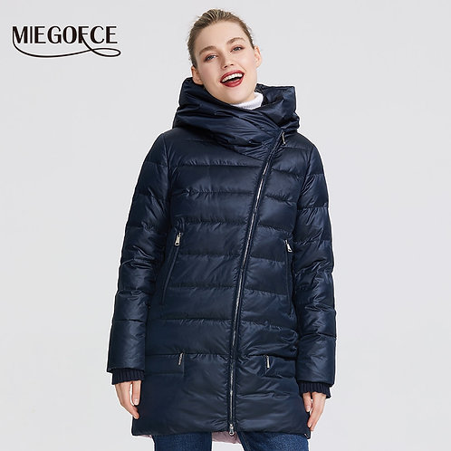 Winter Windproof Stand-Up Collar With Hood