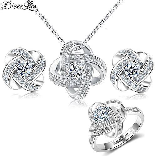 Cross Clover Flower Necklaces for Women Wedding Jewelry Bijoux