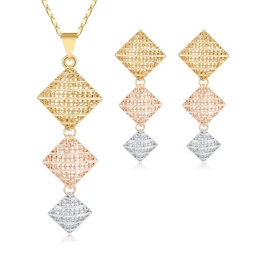 Wedding Choker Necklace Earrings Bridal Dubai Jewellery Sets