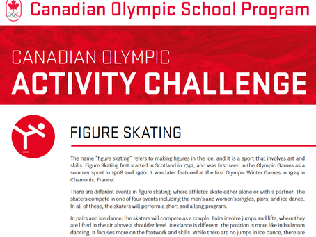 Canadian Olympic Activity Challenge Cards