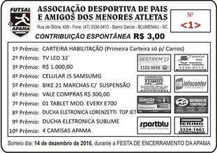 Está lançada a campanha de colaboração espontânea 2016 da Apama Futsal