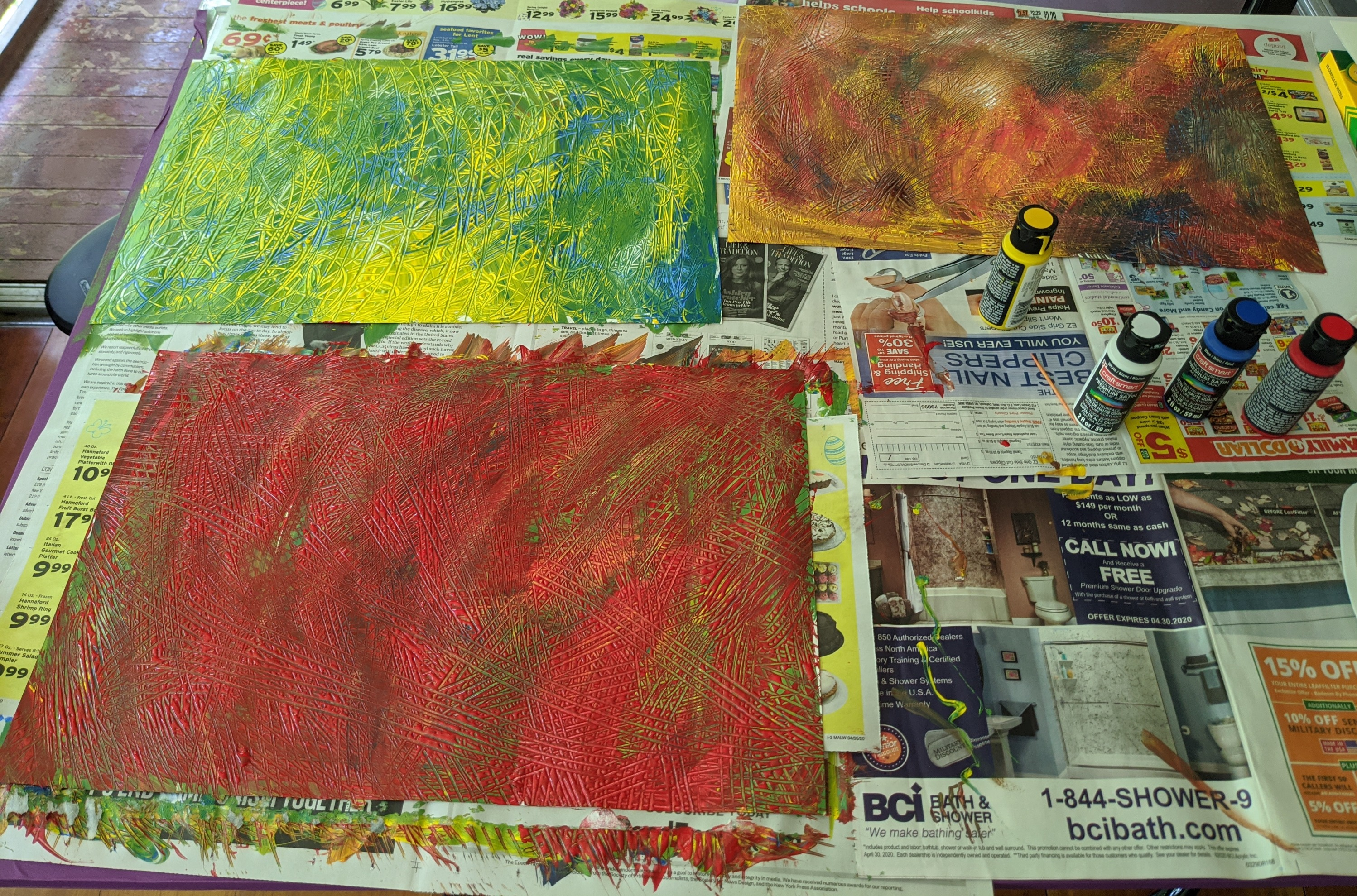 Texture Painted Paper