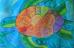 Patterned Sea Turtle