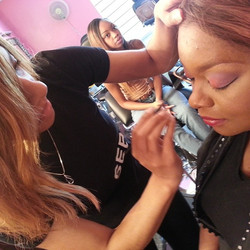 PMA Student Ashanti doing full makeover #makeupclasses #makeupschool #makeupclasses