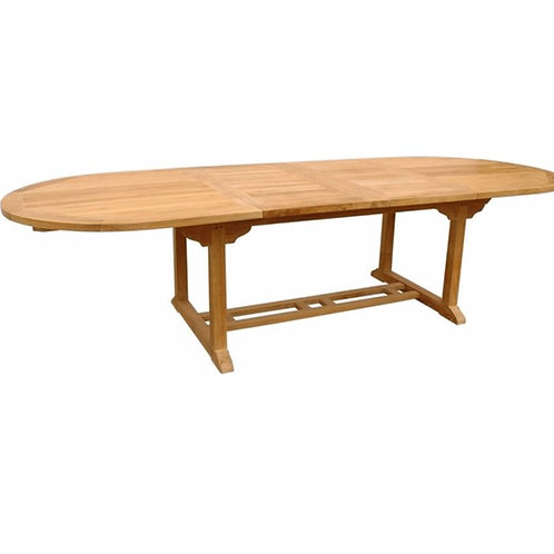 "Batavia 78-102"" Oval Dining Table w/ Dbl Leaf"
