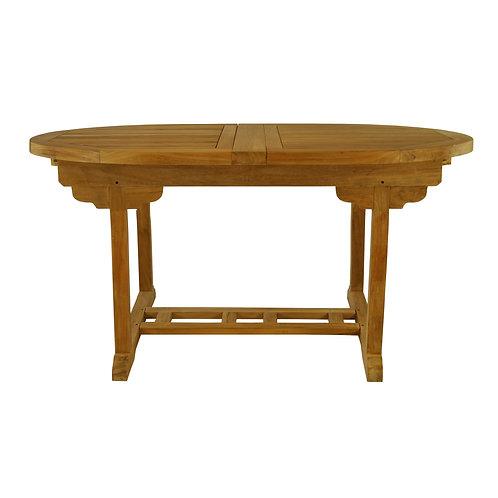 """Batavia 60-78"""" Oval Dining Table w/ Dbl Leaf"""
