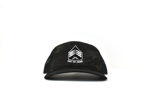 Black Multi-cam trucker hat, Sgt of Arms black multi-cam