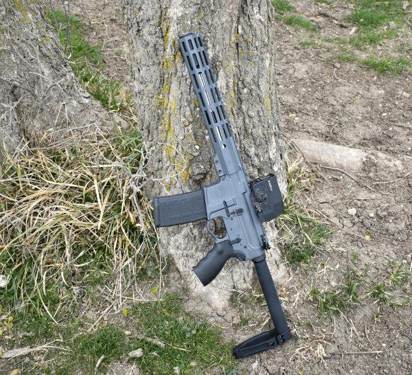 Sniper Grey AR-15 Pistol