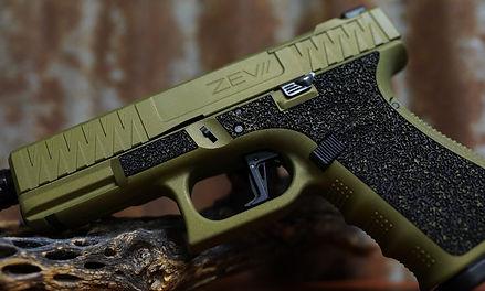 Glock 19, OD green, Laser engraving
