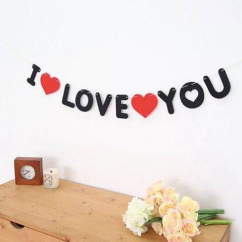"""I LOVE YOU"" Banner"