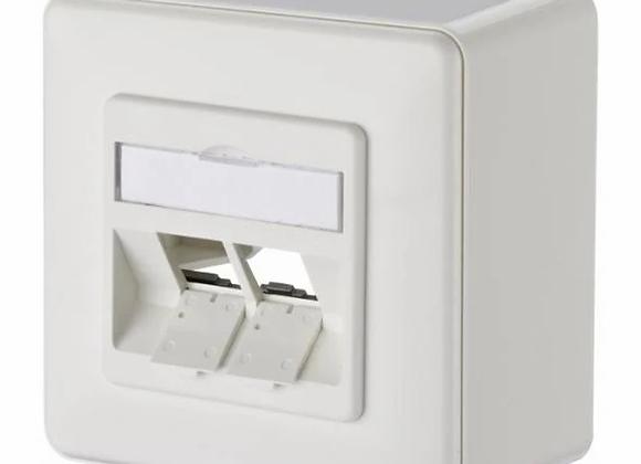 METZ CONNECT 4.3 cm Installationskasten Netzwerkoberfläche - Pure White, RAL 901