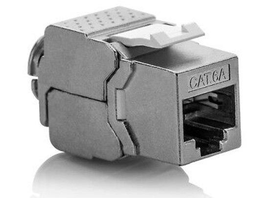 10x Keystone Jack Modul Cat.6a RJ45 STP werkzeuglos Netzwerk Adapter ProfiPatc