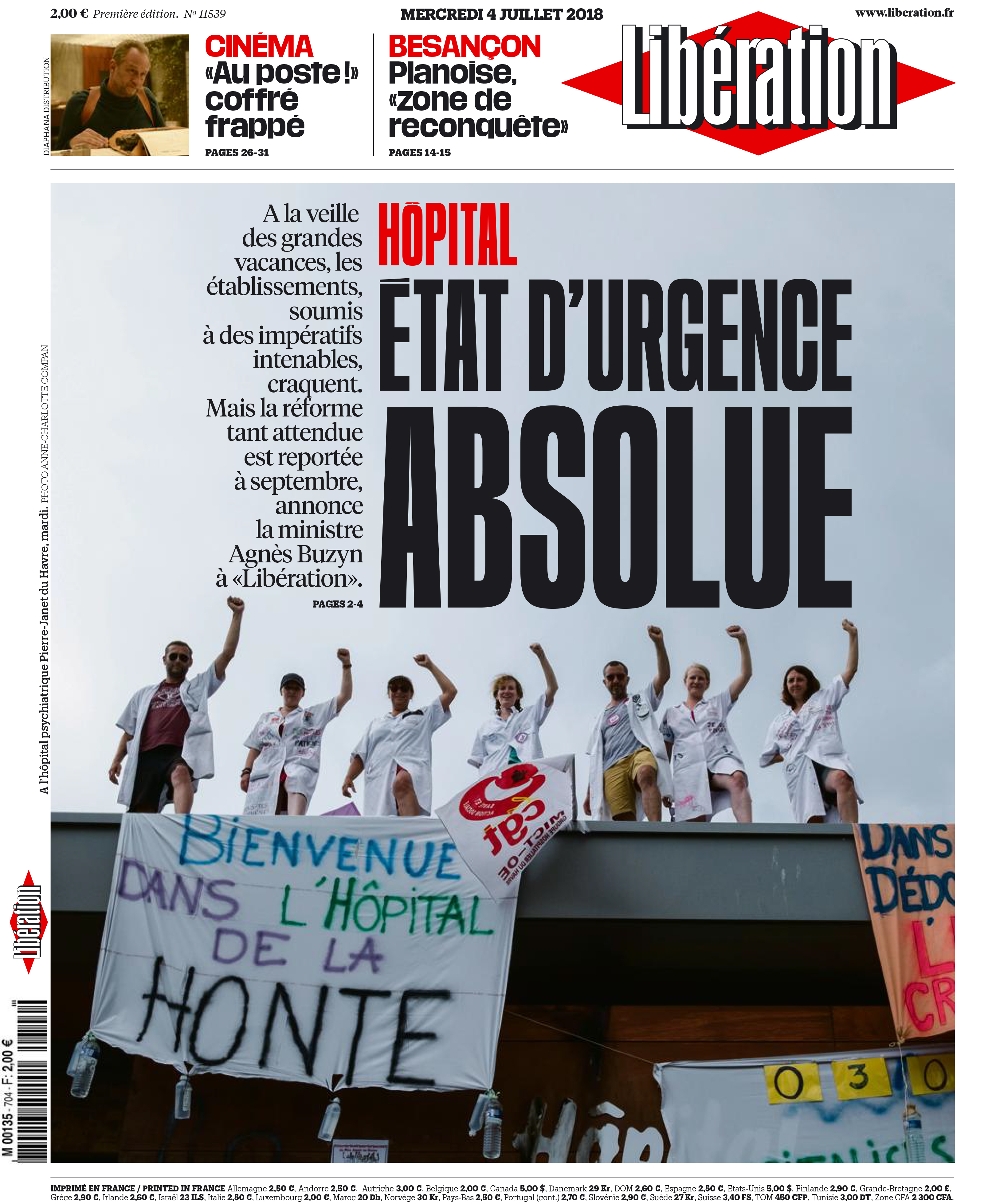 Libération 4 juillet 2018