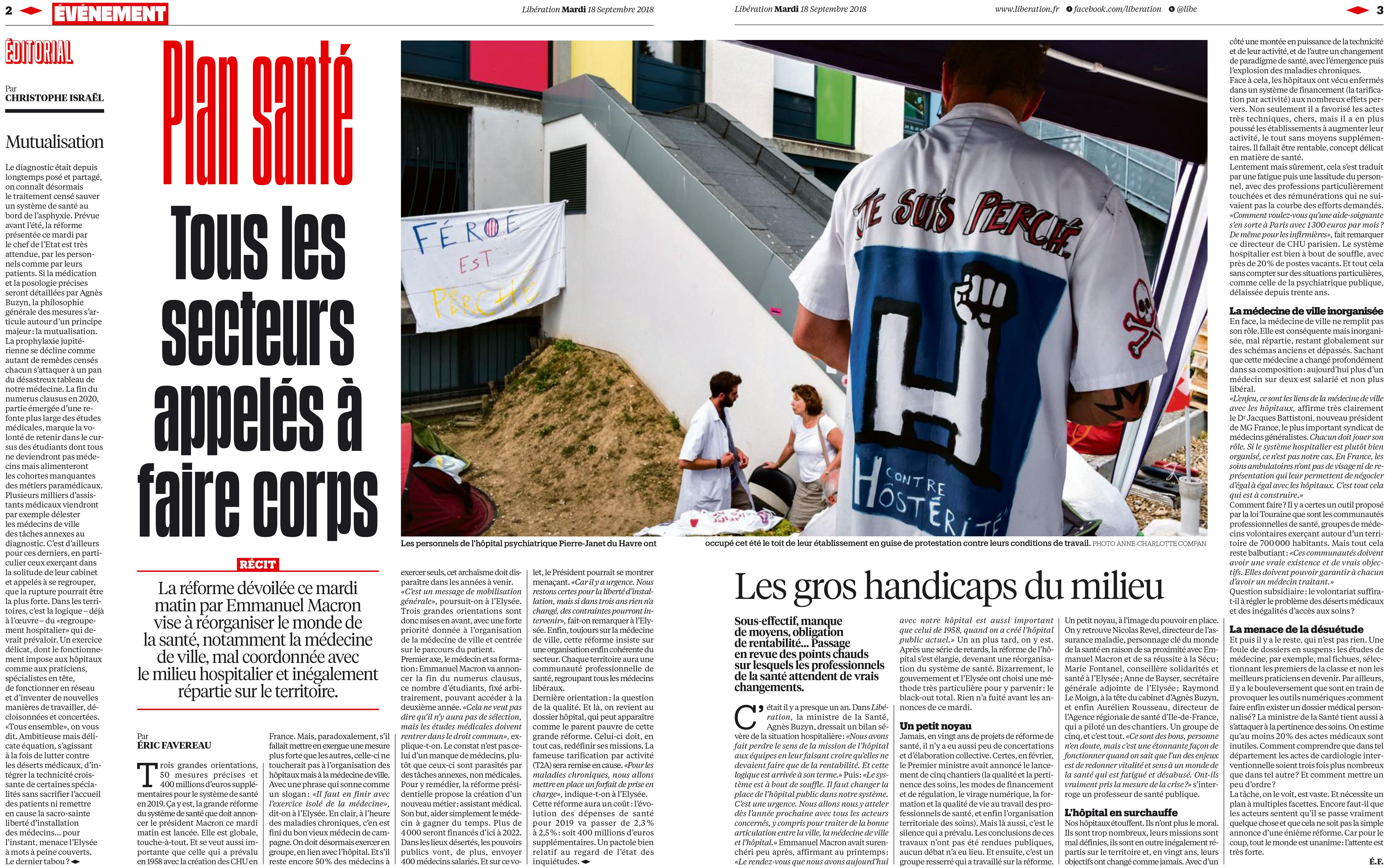 Libération 18 septembre 2018