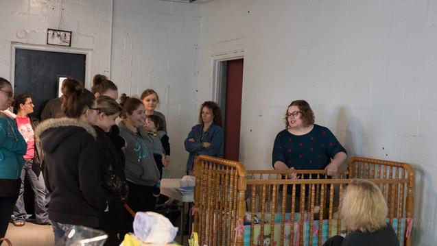 Unsafe crib demonstration with Kasondra Ramsey