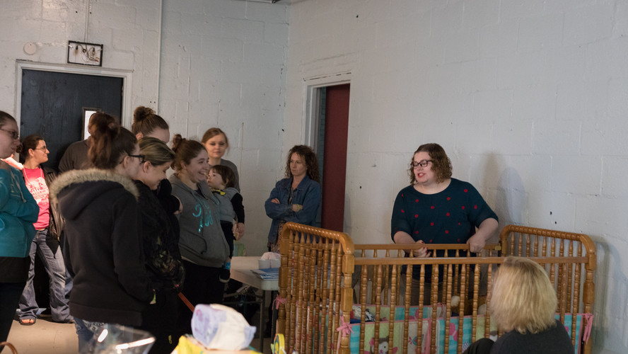 Unsafe crib demonstration with Kasondra Ramsey
