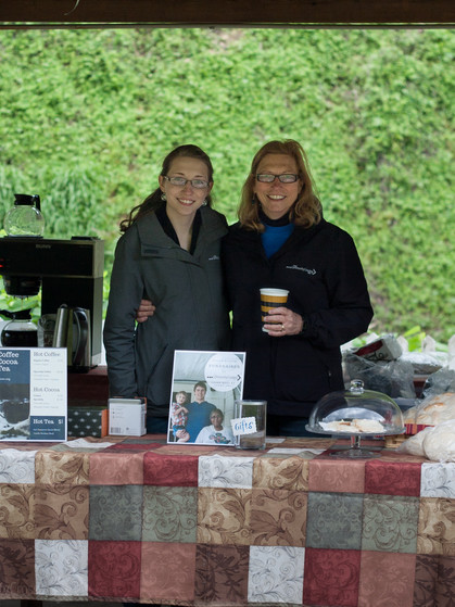 First pop-up Cafe fundraiser with Lesa and Donna!