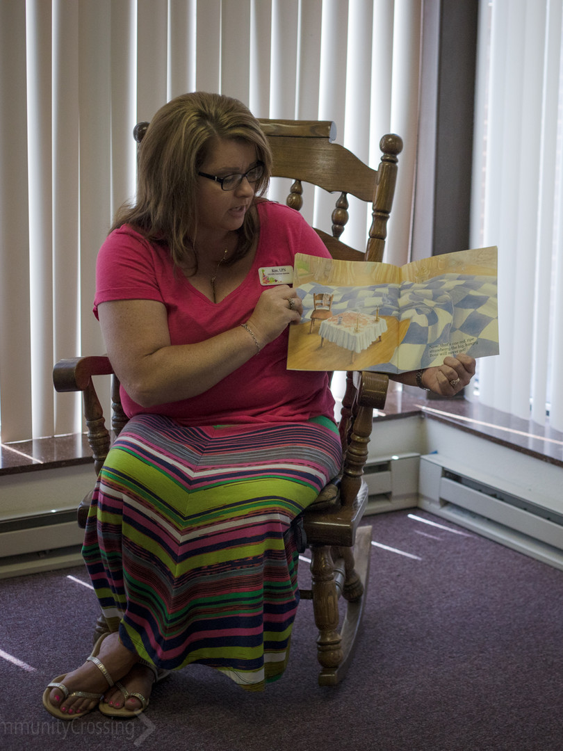 WIC came to story hour at the library!