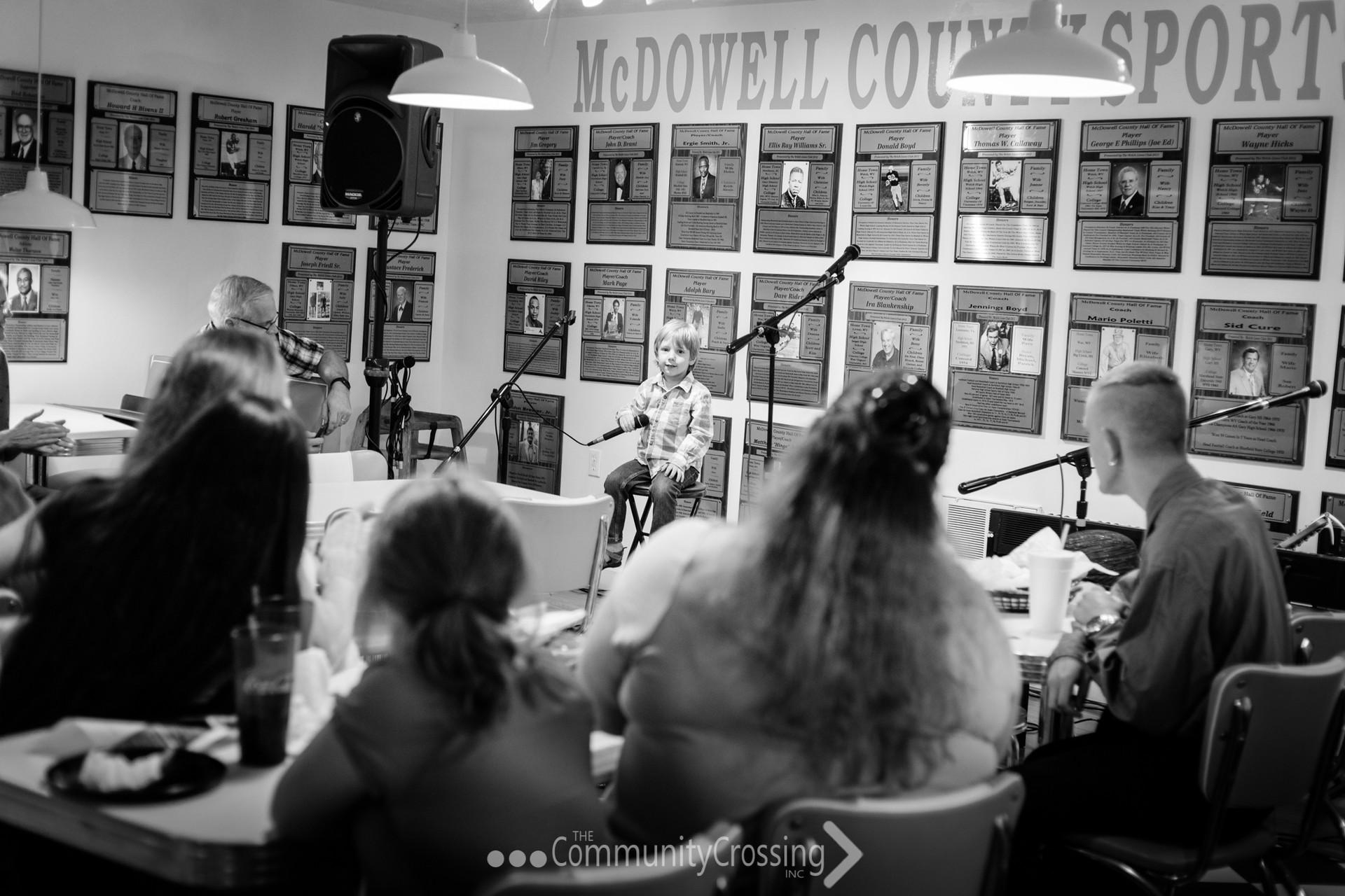 "Alaric Wilson singing ""Wonderful World""."