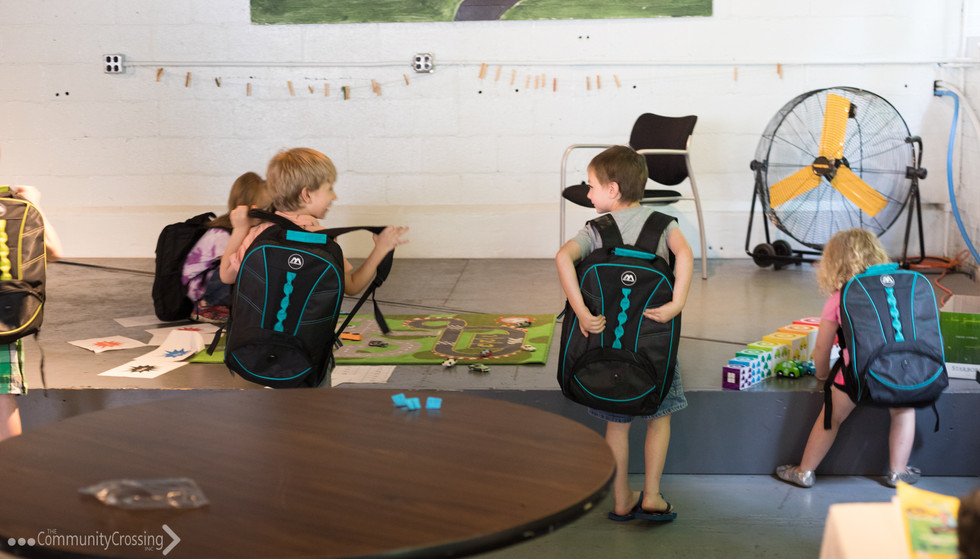 Backpacks for every child loaded with fun activities to do at home!