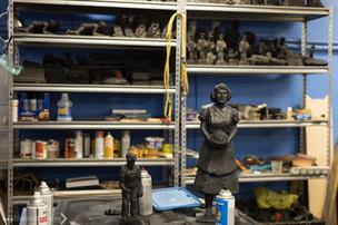 Coal statues