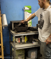 Heating coal dust