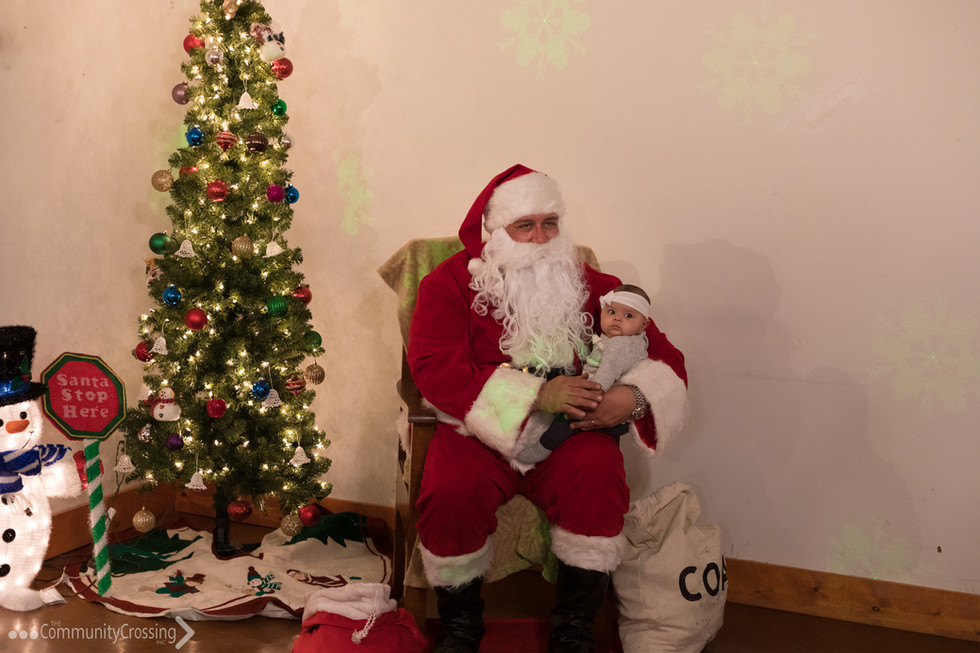 Santa took photos with the children!
