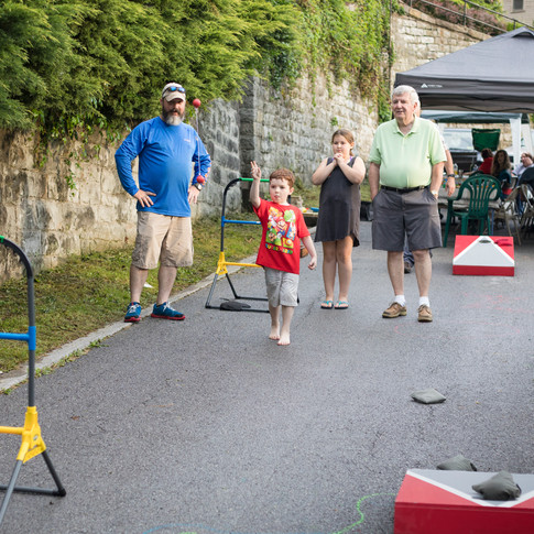 There were games for adults and kids. Cornhole, ladderball, washers, bubbles, and chalk!