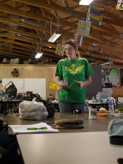 Lori from the HEP Center teaches a class on gardening