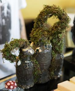 Unique repurposed plastic bottle sculpture by Jay Cox
