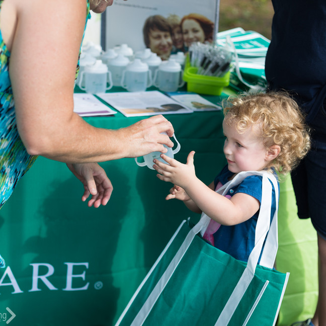 Unicare handed out cups and other give aways. Thank you Unicare for helping make this event possible!