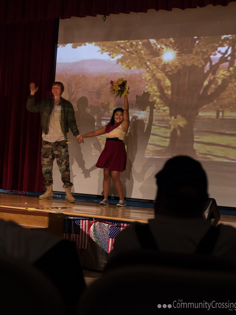 Veteran's Day production put on by Mount View High