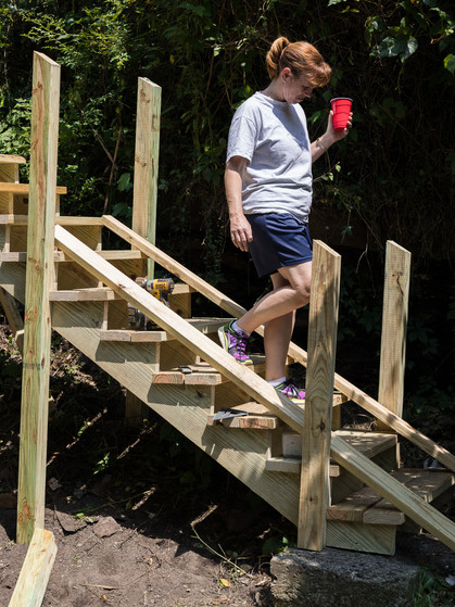Creating safe stairs for a family with young children