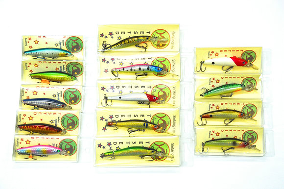 LURE bait minnow COMBO:14 PIECES FLOATING SINKING