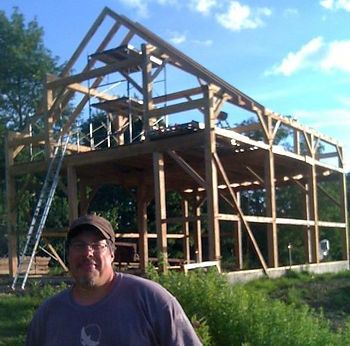 Ricardo and the Landry Barn Frame