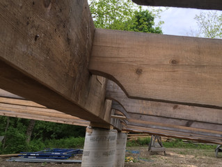 Raising the Eagle House Timber Frame: The Sill Beams