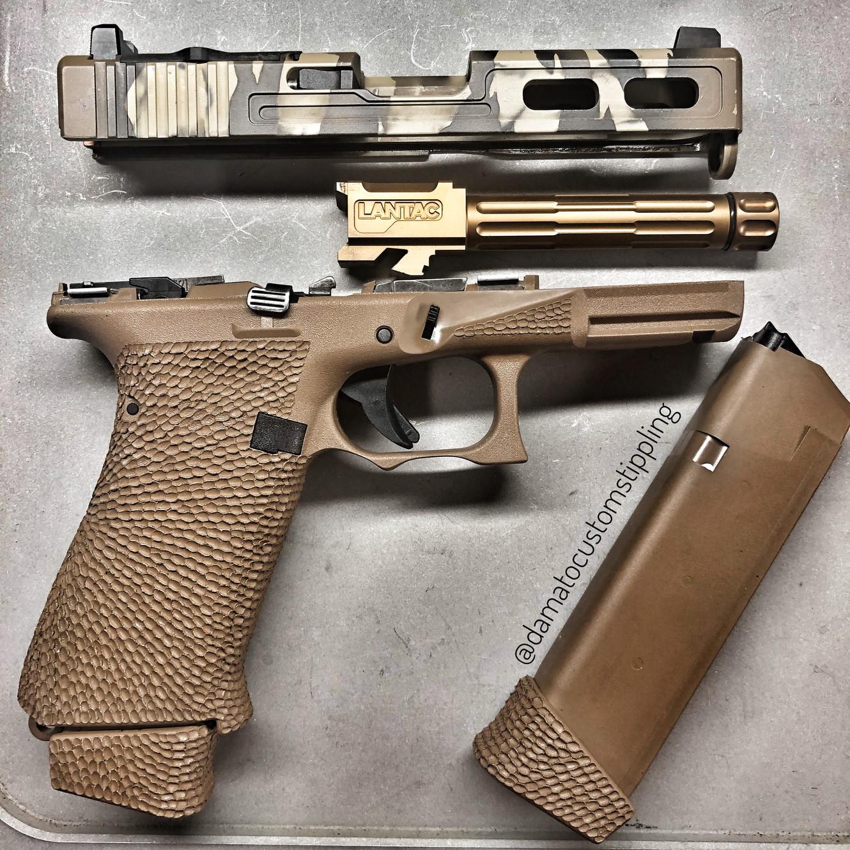 Damato Custom Stippling and Cerakote MP Glock Grip