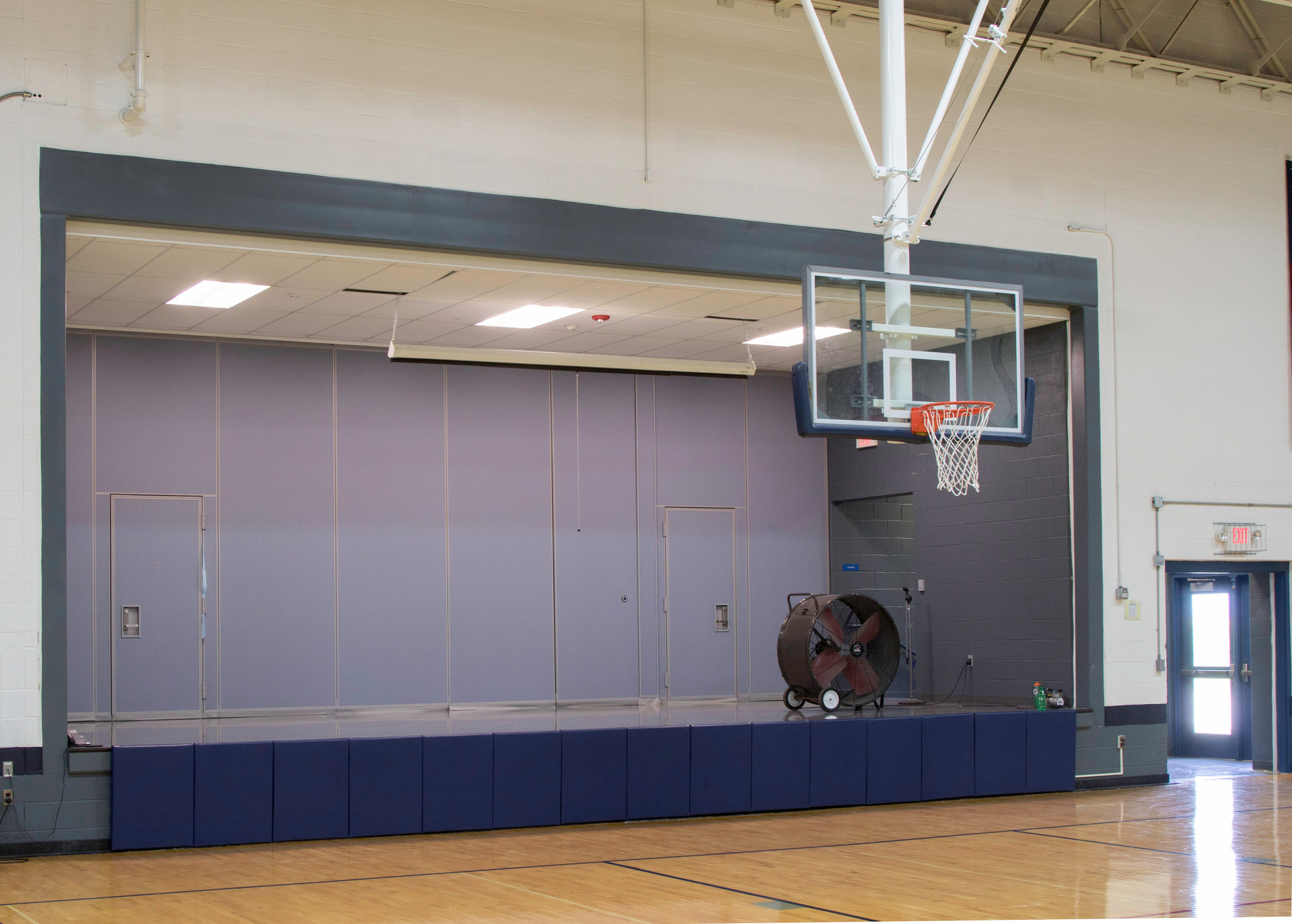South Central High School: stage/gym