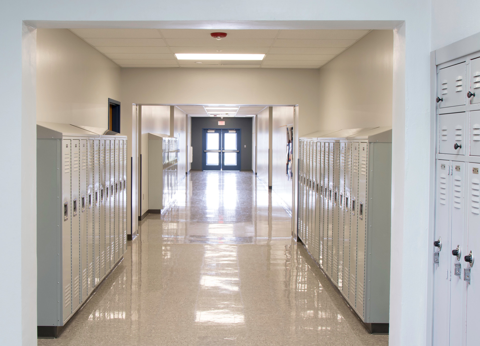 South Central High School: hall
