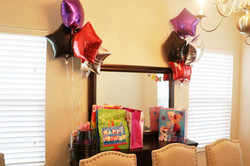 Balloon and gifts