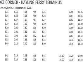 Hayling Bus Timetable