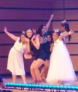 Princesses onstage performance