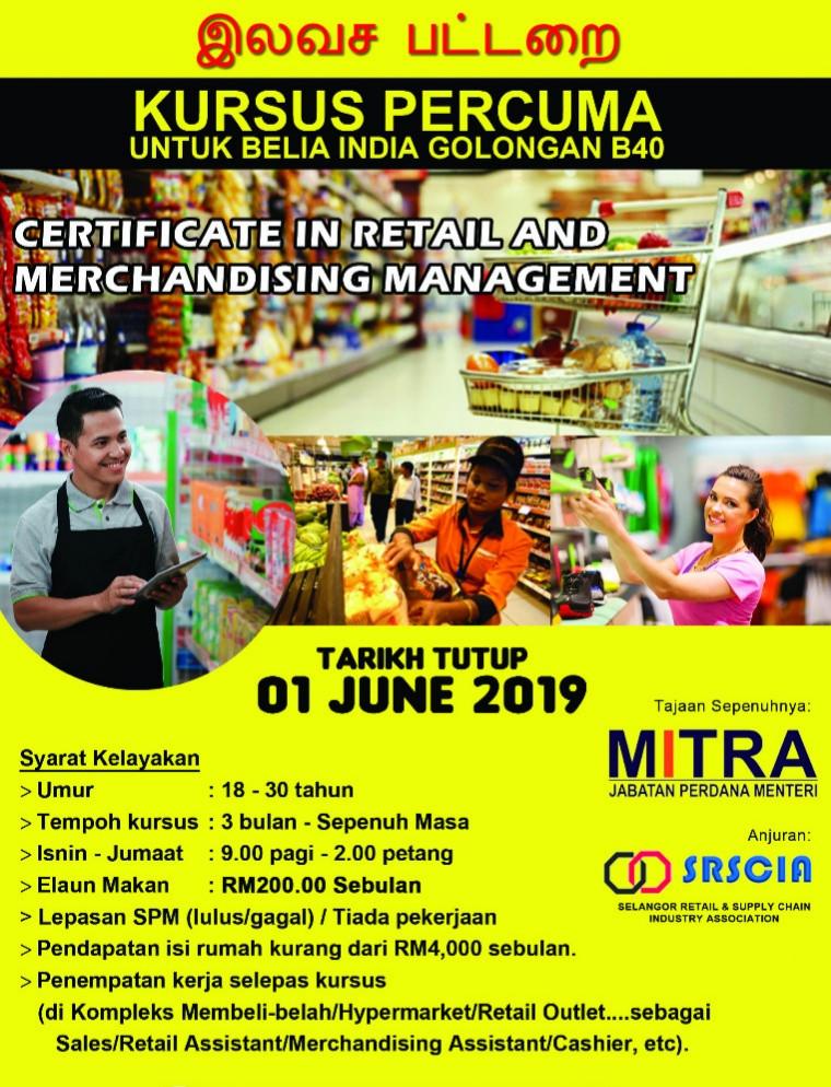Certificate in Retail & Merchandising Management