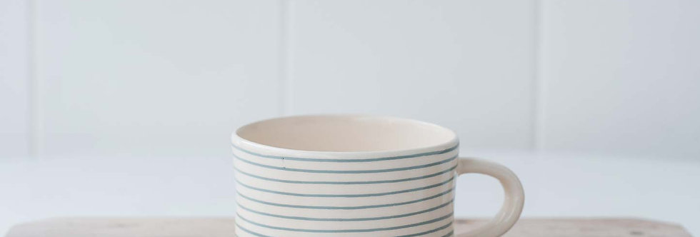 Mug - Dove Grey Stripe