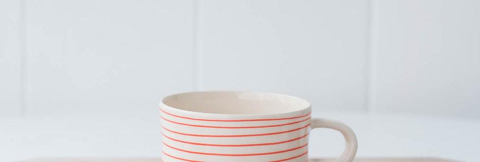 Mug - Tangerine Stripe