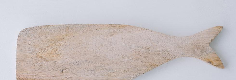 Wilbur Whale Wooden Board