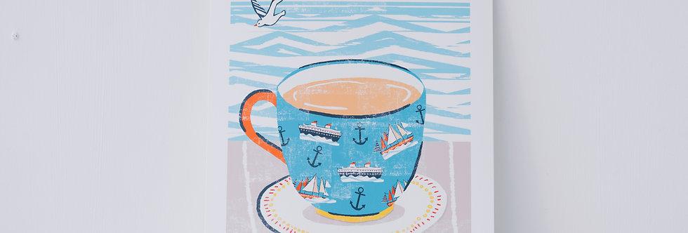 Seaside Print - Tea by the Sea