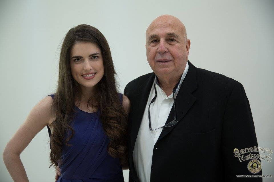 With actress Kelsey Bohlen