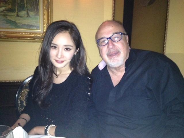 With Chinese actress Yang Mi