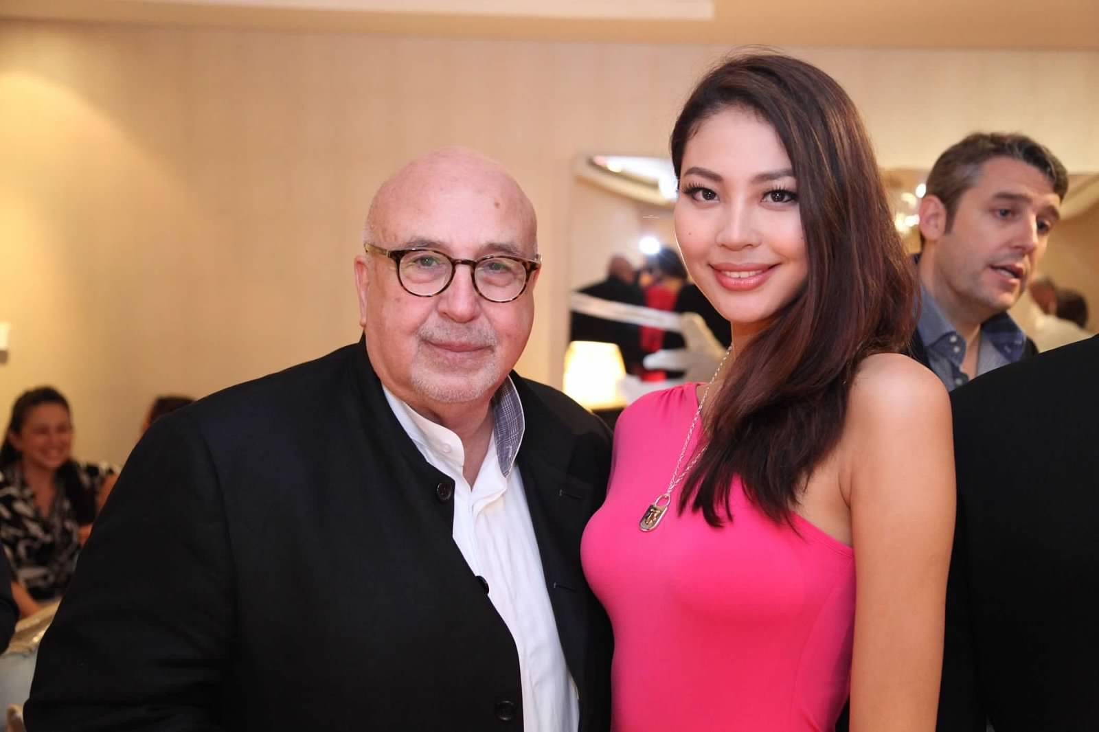 With former Miss China Luo Zilin